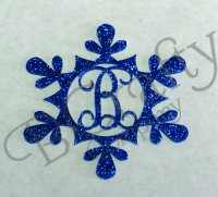 Snowflake Style 1 Border Single Letter Acrylic Ornaments-1/8 inch