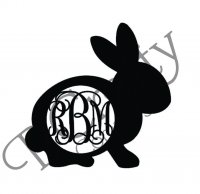 Wholesale Wooden Rabbit Monogram Shape