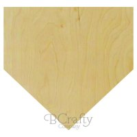 Home Plate Wooden Shape