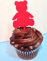 Bear Cupcake Topper 6 count - Laser