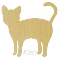 Black Cat Wooden Shape