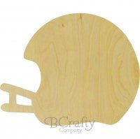 Football Helmet Wooden Shape