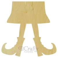 Witch Bottom Half Wooden shape