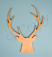 Wholesale Wooden Buck Head Cutout - Style 1