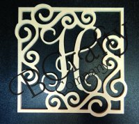 Ornate Border Single Letters - Style 2