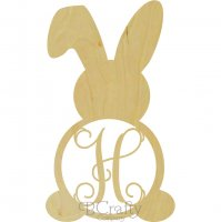 Wholesale Bunny w Floppy Ear Monogram Shape