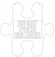 Every Piece Belongs Puzzle