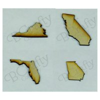 Wholesale Wooden State Cutouts