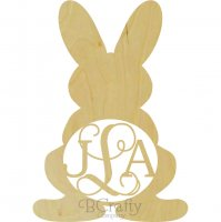 Wholesale Wooden Bunny w Legs Monogram Shape