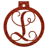 Ornament Ball Border Single Letter Acrylic Ornament