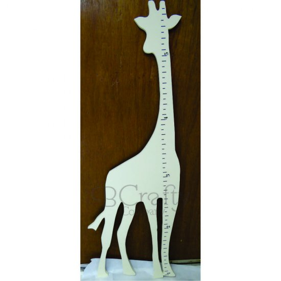 Giraffe Growth Chart Ruler Painted 12 Inch Thick Mdf Bcrafty