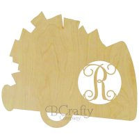 Megaphone Pom Pom Wooden Shape with Monogram Insert