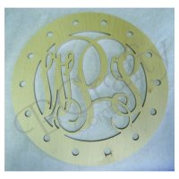 Vine Monogram w Ribbon Holes